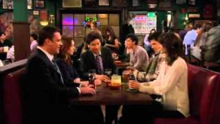 How I Met Your Mother S06E18 guys make fun of Robyns new pet boyfriend
