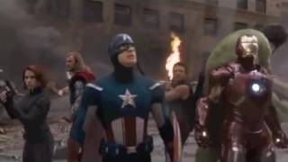 "CAPTAIN AMERICA WITH HULK HOGAN THEME SONG.""Real American""."