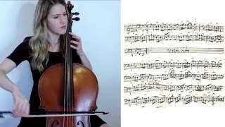 J.S. Bach - Cello Suite no. 1 in G major: VI. Gigue, sheet music on baroque cello, Emily Davidson