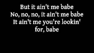 Johnny Cash and June Carter   It ain't me, babe with lyrics