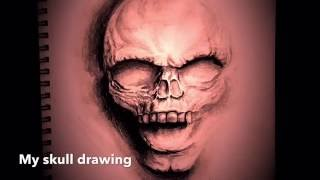 3D Skull drawing time lapse video
