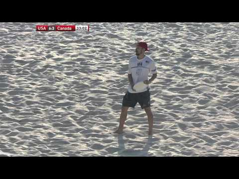 Video Thumbnail: 2015 World Championships of Beach Ultimate, Mixed Masters Gold Medal Game: USA vs. Canada
