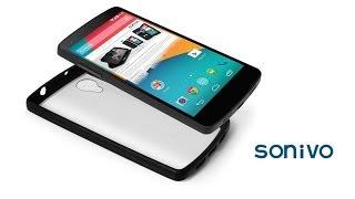 Sonivo Fusion Bumper Case Clear Back Cover for LG Google Nexus 5
