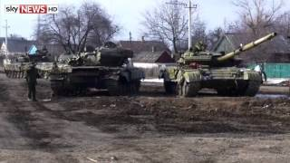 Feb 2015: Ukrainian Forces Retreat From Debaltseve As Rebels Celebrate Victory