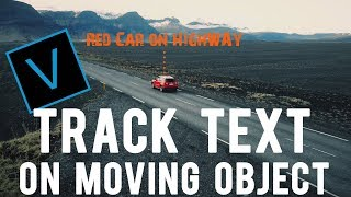 Motion track Title / Text on moving object VEGAS PRO 16