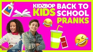 Back To School Pranks with Ahnya & Shane from The KIDZ BOP Kids