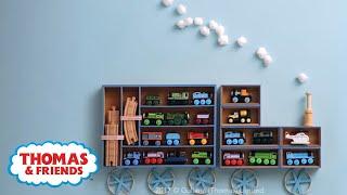 DIY Thomas Train Shelves! Room Decor for Kids! | Thomas & Friends Crafts | Thomas & Friends
