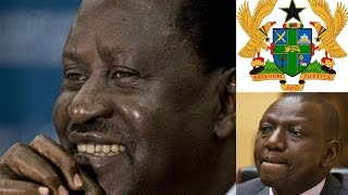 Raila on VIP Front Row; Ruto Dumped on Back Seat at Akufo Addo's Inauguration