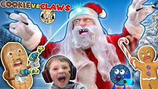 ANNOYING COOKIES vs CLAWS!  Chase vs Duddz in Santa Claus invades Valentines Day (FGTEEV Skit/Game)