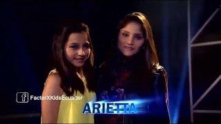 Arietta - Mi Nuevo Vicio (P. Rubio ft  Morat) | (Programa 7) 1ra Gala Factor X Kids Ecuador 2015