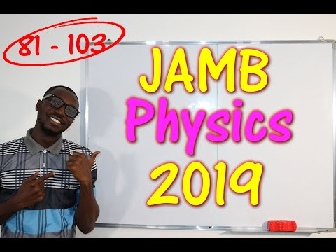 JAMB CBT Physics 2019 Past Questions 81 - 103