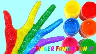 Learn Colors for Children Body Paint Finger Family Song Nursery Rhymes Learning Video