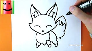 DESSIN FACILE - COMMENT DESSINER UN RENARD KAWAII - CHRIS DESSINE