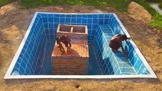 Build Secret Home Under Swimming Pool Part 1