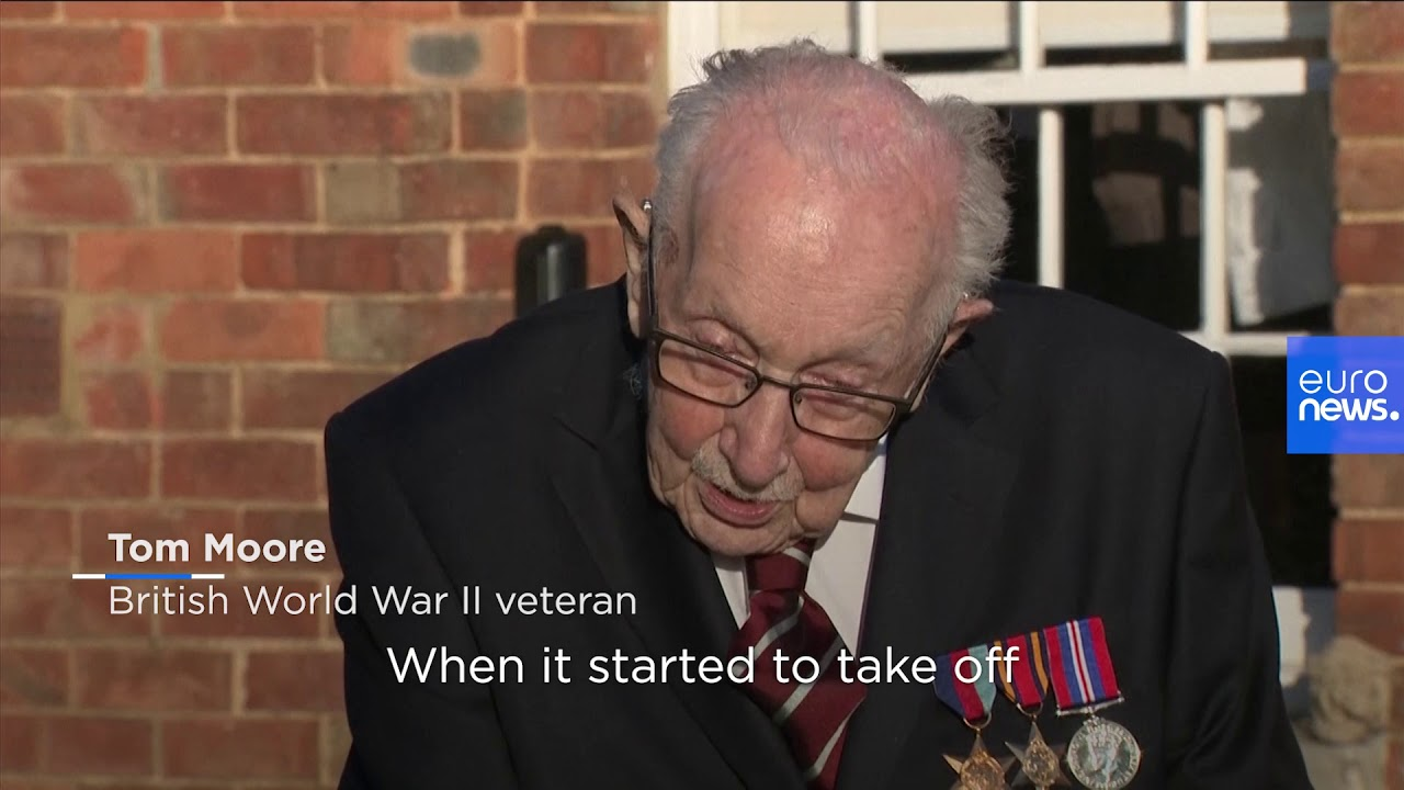 WWII Veteran Aged 99 Raises over €14 Million for Healthcare Workers in the UK