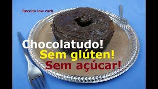 BOLO DE CACAU SAUDÁVEL (Sem açúcar, sem glúten – Rápido, Fácil, Delicioso)