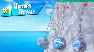 VICTORY ROYALE While Hanging OFF THE MAP! (Fortnite Battle Royale)