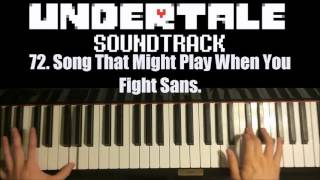 Undertale OST - 72. Song That Might Play When You Fight Sans. (Piano Cover by Amosdoll)