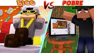RICO VS POBRE - YOUTUBER ft SR PEDRO - Minecraft Machinima