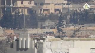 الثوار يدمرون سيارة فان بداخلها مجموعة من الميليشيات الإيرانية على جبهة منيان بضاروخ م.د بريف حلب
