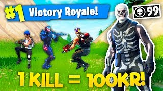 1 KILL = 100KR!! (DANSK FORTNITE)