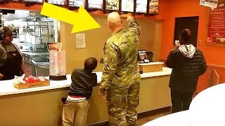 Soldier Goes To Order Taco Bell Meal, Stops Cold When He Hears 2 Boys Behind Him 1