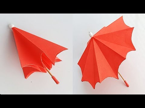 How to make a paper Umbrella that open and close//Very Easy - YouTube