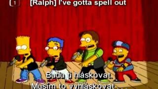 Simpsonovi - Nová chlapecká kapela písně | The Simpsons - Bart's boys band songs