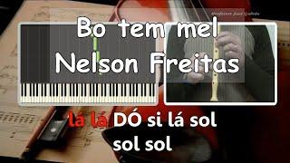 Bo tem mel - Nelson Freitas & C4 Pedro - Karaoke para Flauta - Educação Musical - José Galvão