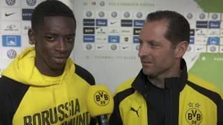 Nach 5:1 in Wolfsburg: Ousmane Dembélé im Interview | VfL Wolfsburg - BVB 1:5