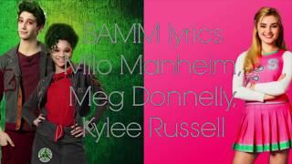BAMM ~ Milo Manheim, Meg Donnelly, Kylee Russell ~ Lyrics
