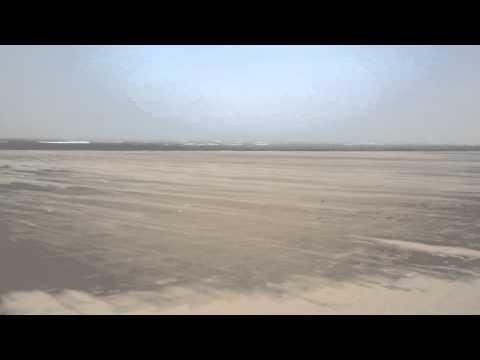 Tarfaya beach and The fortress Casa del Mar (Morocco)