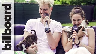 Sofi Tukker is Attacked by Adorable Puppies! | Firefly 2017
