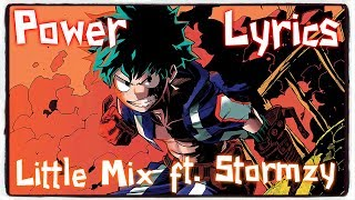 【Nightcore】→ Power || Little Mix ft. Stormzy ✘ Lyrics