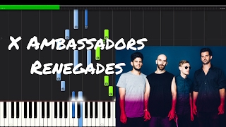 X Ambassadors - Renegades Piano Tutorial