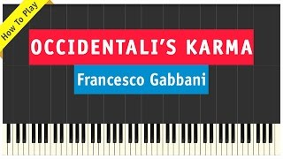 Francesco Gabbani - Occidentali's Karma - Piano Cover (How To Play Tutorial)