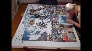 "5,000 piece Ravensburger Puzzle ""Beneath the Sea"" Time Lapse"
