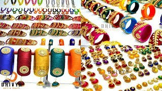 Never Seen before Biggest Silk thread Jewellery Collection at One Place width=