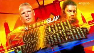 WWE SummerSlam 2018: Brock Lesnar vs. Roman Reigns - Official Match Card