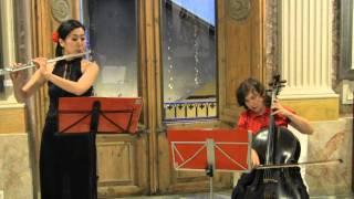 Mozart   eine kleine nachtmusik svetlana Tovstukha cello Mariko Nambu Flute