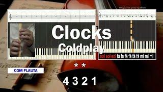 Clocks Coldplay - Karaoke das notas para Orff e Flauta - Educacao Musical - Jose Galvao