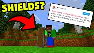 SHIELDS COMING TO MCPE??! - News Discussion - Minecraft Pocket Edition
