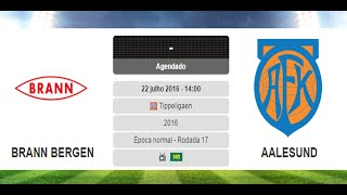 Trader Esportivo - Planilha de Analise Automática - Brann vs Aalesund