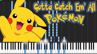 Gotta Catch 'Em All - Pokémon [Piano Tutorial] (Synthesia) // Animenz