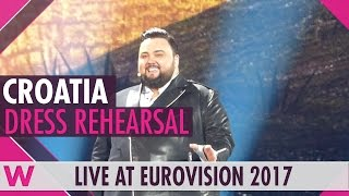 "Croatia: Jacques Houdek ""My Friend"" grand final dress rehearsal @ Eurovision 2017"