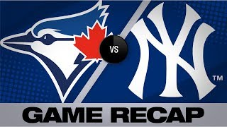 Stanton, Paxton lead Yankees to 7-2 victory   Blue Jays-Yankees Game Highlights 9/21/19