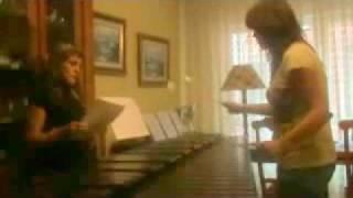 Beautiful Christina Aguilera on marimba