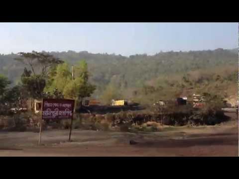 Sylhet-Tamabil highway (High-definition Video)