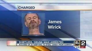 Shirtless, drunk man arrested at Calvert County Subway