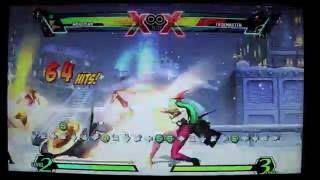 UMVC3 DHC into Morrigan from Magneto updated
